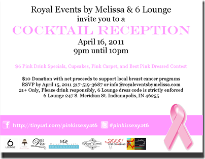 Invite - Pink is Sexy at 6 Cocktail Reception 3